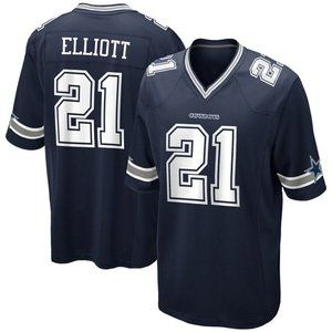 NEW NFL Men's 21# Elliott Nike Navy Blue jersey